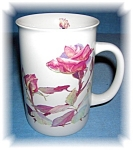 Click here to enlarge image and see more about item 0920200532: Rose Garden tea coffee mug 1990