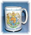 Click here to enlarge image and see more about item 0920200535: QUEEN ELIZABETH SILVER JUBILEE TANKARD 1977