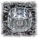 Click here to enlarge image and see more about item 0920200538: HEISEY CUT GLASS BOWL OCTAGON - SUGAR??