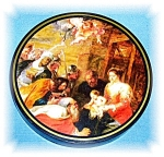 Click here to enlarge image and see more about item 0920200543: PICTURE - RUBENS - 'ADORATION OF THE MAGI'