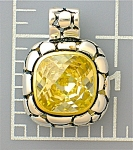 Click to view larger image of Pendant Sterling Silver Gold Vermeil Lemon Citrine CZ  (Image1)