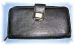 Click to view larger image of Blk Leather Stone Mountain Check Book Wallet (Image1)