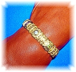 Click here to enlarge image and see more about item 0924200612: Bracelet Gold Vermeil Sterling Silver Jewels
