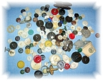 Click here to enlarge image and see more about item 0925200512: BAG OF VINTAGE BUTTONS