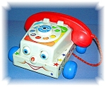 Click here to enlarge image and see more about item 0925200516: 1985 FISHER PRICE TELEPHONE #747