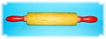 Click to view larger image of VINTAGE ROLLING PIN WITH RED HANDELS (Image1)
