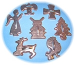 Click to view larger image of SET COPPER TONE COOKIE CUTTERS - 7 EA (Image1)