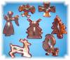 Click to view larger image of SET COPPER TONE COOKIE CUTTERS - 7 EA (Image4)