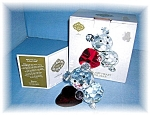Click here to enlarge image and see more about item 09302005107: Shannon  Swarovski Like Crimson Heart & Bear