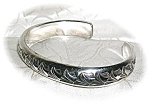 Click to view larger image of Heavy Handmade  Sterling Silver Cuff Bracelet (Image1)
