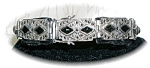 Click here to enlarge image and see more about item 0930200529: Vintage Sterling Silver Black Onyx Marquisite