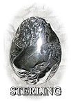 Click to view larger image of Beautiful Solid Sterling Silver Cameo Brooch (Image1)