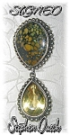 Click to view larger image of  Brooch Sterling Silver Stephen Dwek Golden Topaz  (Image1)