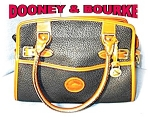 Black & Tan All Leather Dooney & Bourke Bag