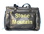 Click to view larger image of Black Leather STONE MOUNTAIN Bag (Image1)