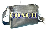 Black Leather COACH Over The Shoulder Bag