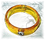 Click to view larger image of Yellow Gold Sparkly Bangle Bracelet (Image1)