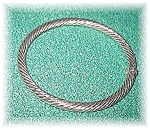 Bracelet Sterling Silver Twist Rope Bangle