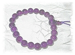Genuine Amethyst Bracelet On Stretchy Elastic