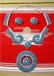 Click to view larger image of Sterling Silver Turquoise ZUNI  Needlepoint Necklace JC (Image1)
