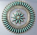 Click to view larger image of Sterling Silver Turquoise ZUNI  Needlepoint Necklace JC (Image3)