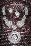 Click to view larger image of Sterling Silver Turquoise ZUNI  Needlepoint Necklace JC (Image5)
