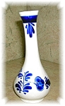 Click here to enlarge image and see more about item 1004200506: DELFTS BLUE VASE MADE IN HOLLAND