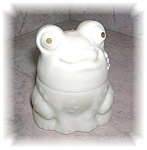 Click here to enlarge image and see more about item 1004200508: AVON Enchanted Frog, Cream Sachet B OTTLE