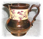 Click here to enlarge image and see more about item 1004200527: Allerton Longton England Copper Lustre Jug