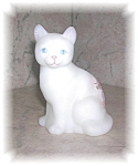 Click here to enlarge image and see more about item 1004200536: HAND PAINTED SIGNED CAT FIGURINE
