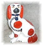 Click here to enlarge image and see more about item 1004200537: STAFFORDSHIRE PORCELAIN DOG