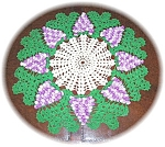 Click here to enlarge image and see more about item 1004200549: HAND MADE CROCHET DOILEY