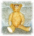 Click to view larger image of LARGE OLD MOHAIR BEAR (Image1)