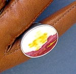Click to view larger image of Mookaite Sterling Silver Ring By Starborn (Image1)