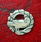 Georg jensen Denmark Sterling Silver Bird brooch