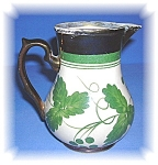 Click here to enlarge image and see more about item 1005200502: WADE COPPER LUSTER HARVEST WARE CREAMER - UK
