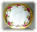 Click here to enlarge image and see more about item 1005200511: English Bone China Golden Rose Royal Chelsea Plate