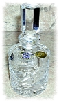 HAND CUT CZECH CRYSTAL BOTTLE WITH STOPPER