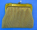 Whiting and Davis Gold Evening Purse