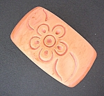 Pink Caramel Carved LUCITE Flower bangle bracelet