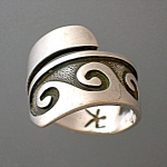 American Indian Sterling Silver Adjustable Ring