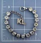 Kenneth  Lane Crystal Silver Tennis Bracelet