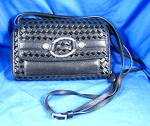 Click to view larger image of Brighton Black Checkbook Purse Wallet Bag (Image1)