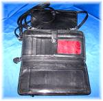Click to view larger image of Brighton Black Checkbook Purse Wallet Bag (Image5)