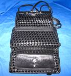 Click to view larger image of Brighton Black Checkbook Purse Wallet Bag (Image6)