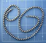 Native American Sterling Silver 6mm Bead Necklace