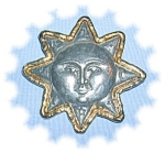 Click to view larger image of  FAB AND SIGNED JJ - SUNFACE BROOCH (Image1)