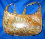 Click to view larger image of Morris Moskowitz Vintage  Leather Paisley Handbag (Image2)
