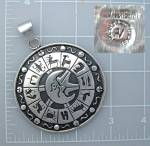 Click to view larger image of Alfred Villasana Taxco Mexico Zodiac Pendant Sterling S (Image5)