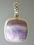 Click to view larger image of Amethyst Dead Sea Sarda Sterling Silver Pendant (Image1)